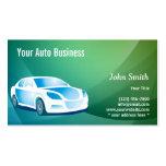 Tarjeta de visita de detalle auto móvil azul abstr