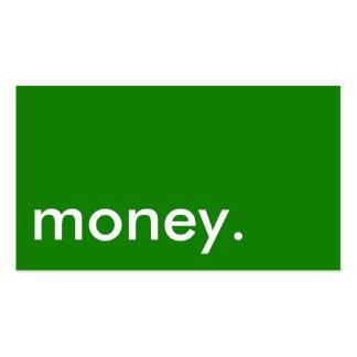 Tarjeta de visita de dinero