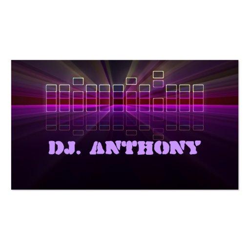 tarjeta de visita de DJ de la música