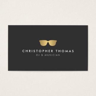 Tarjeta de visita de DJ de las gafas de sol del