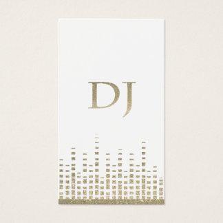 Tarjeta de visita de DJ del brillo