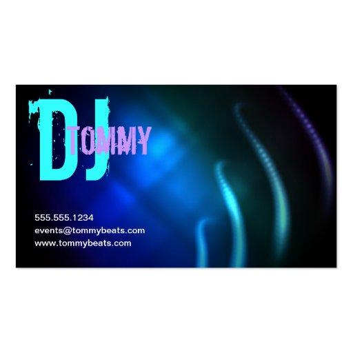 Tarjeta de visita de DJ