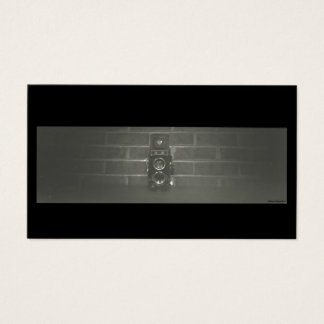 Tarjeta de visita de encargo blanco y negro de la