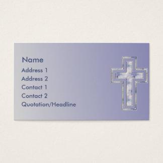 Tarjeta de visita de encargo cristiana cruzada