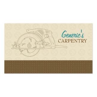 Tarjeta de visita de encargo de la carpintería
