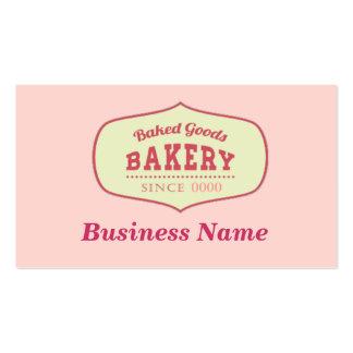 Tarjeta de visita de encargo de la panadería