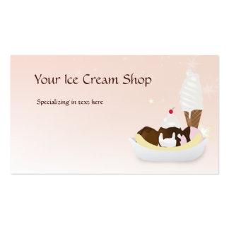 Tarjeta de visita de encargo de la tienda de helad
