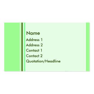 Tarjeta de visita de encargo de las barras verdes
