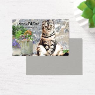 Tarjeta de visita de encargo del gato inglés lindo