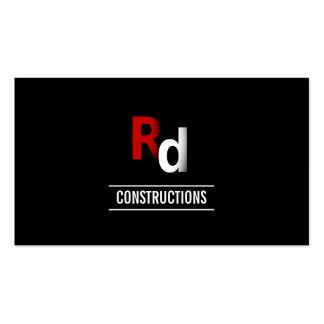 Tarjeta de visita de encargo moderna de construcci