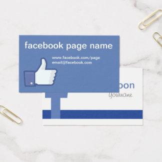 Tarjeta de visita de Facebook CC0059