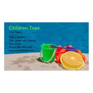Tarjeta de visita de juguetes de los niños