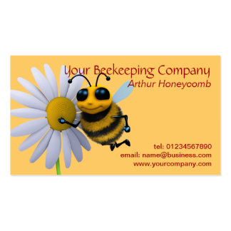 Tarjeta de visita de la abeja del apicultor