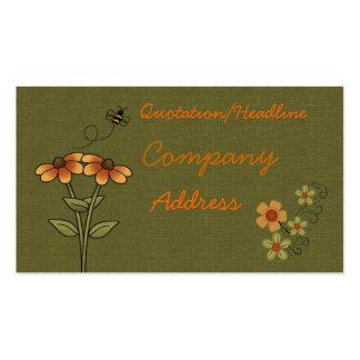 tarjeta de visita de la abeja
