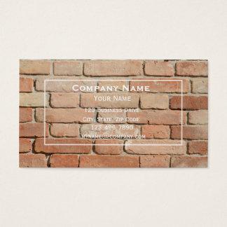 Tarjeta de visita de la albañilería de la pared de