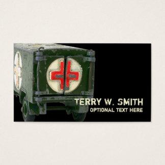 Tarjeta de visita de la ambulancia del ejército
