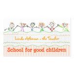 tarjeta de visita de la amistad de los niños