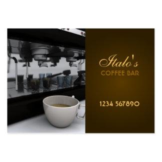 Tarjeta de visita de la barra de café