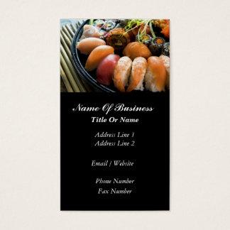 Tarjeta de visita de la barra de sushi