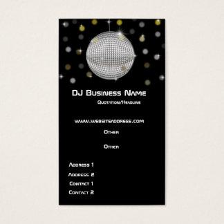 Tarjeta de visita de la bola de discoteca y de las