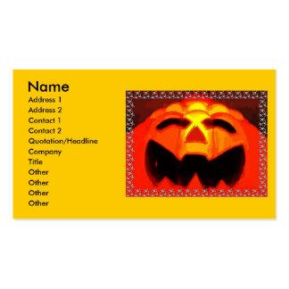 Tarjeta de visita de la calabaza de Halloween