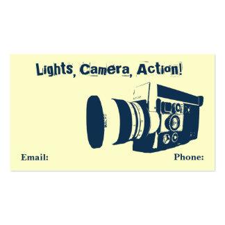Tarjeta de visita de la cámara de película del