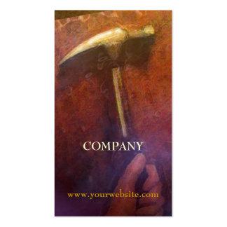 Tarjeta de visita de la carpintería de la mano y tarjetas de visita