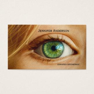 Tarjeta de visita de la cita del cuidado del ojo