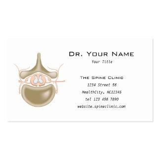 Tarjeta de visita de la clínica de la espina dorsa