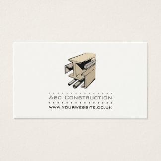 Tarjeta de visita de la construcción/del