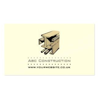 Tarjeta de visita de la construcción del construct