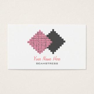 Tarjeta de visita de la costurera - muestras de la