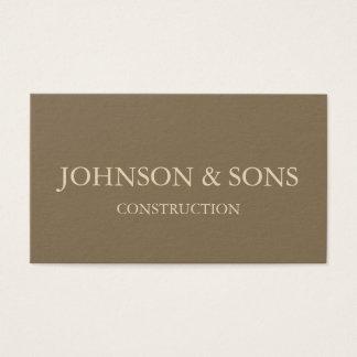 Tarjeta de visita de la empresa de la construcción