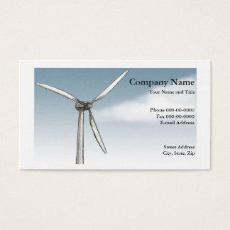 Tarjeta de visita de la energía eólica
