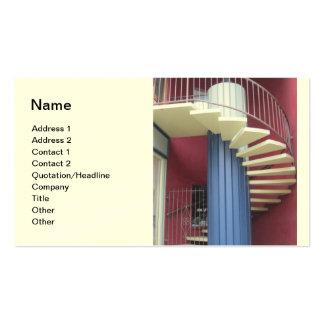 Tarjeta de visita de la escalera de la construcció