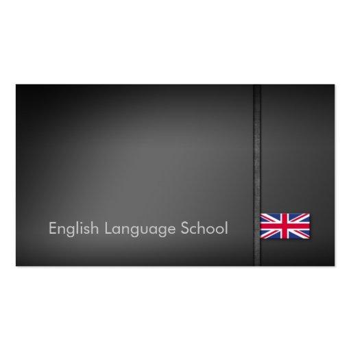 Tarjeta de visita de la escuela de idiomas inglese