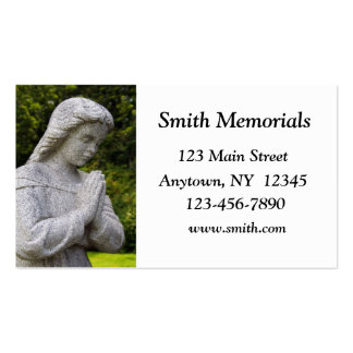 Tarjeta de visita de la estatua del granito