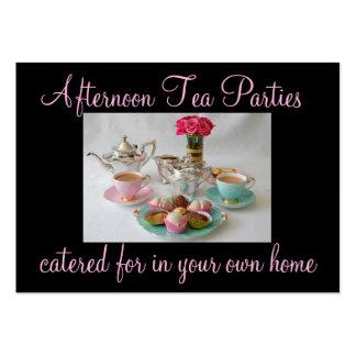 Tarjeta de visita de la fiesta del té de la tarde