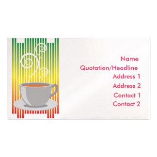 tarjeta de visita de la fiesta del té