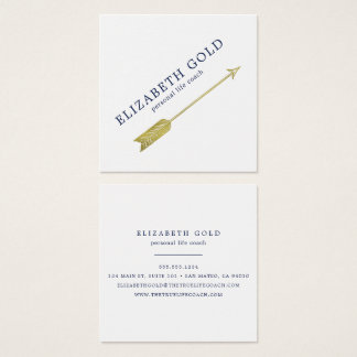 Tarjeta de visita de la flecha del oro