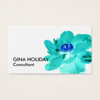 tarjeta de visita de la flor de las azules