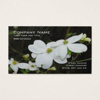 Tarjeta de visita de la flor del árbol de Dogwood