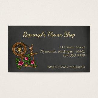 Tarjeta de visita de la floristería de la pizarra
