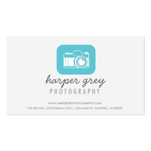 Tarjeta de visita de la fotografía del ejemplo