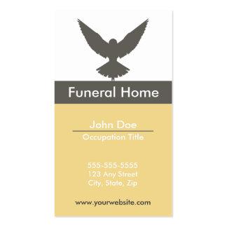 Tarjeta de visita de la funeraria