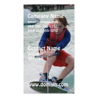 Tarjeta de visita de la juventud de Wakeboarding
