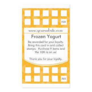 Tarjeta de visita de la lealtad del yogurt congela