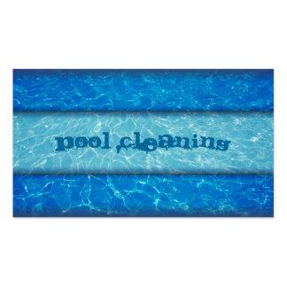 Tarjeta de visita de la limpieza de la piscina