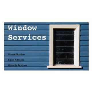 Tarjeta de visita de la limpieza de ventana