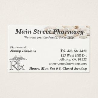 Tarjeta de visita de la lista de la medicación del